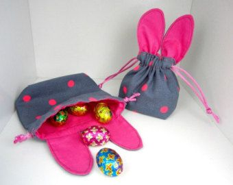 PDF Drawstring Gift Bag Pattern for Easter