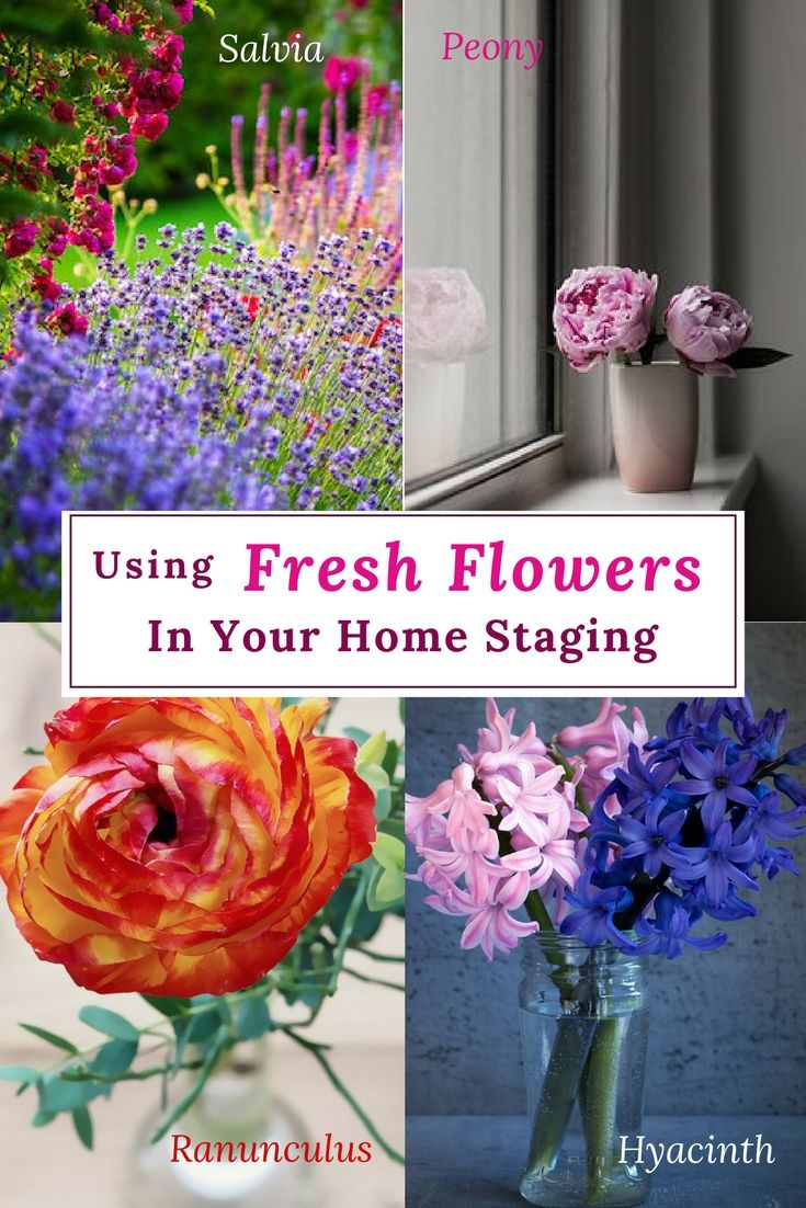 Tips from a master gardener for using fresh flowers when staging your home for sale.