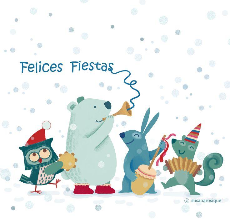 Felices Fiestas - Merry Christmas - by Susana Rosique