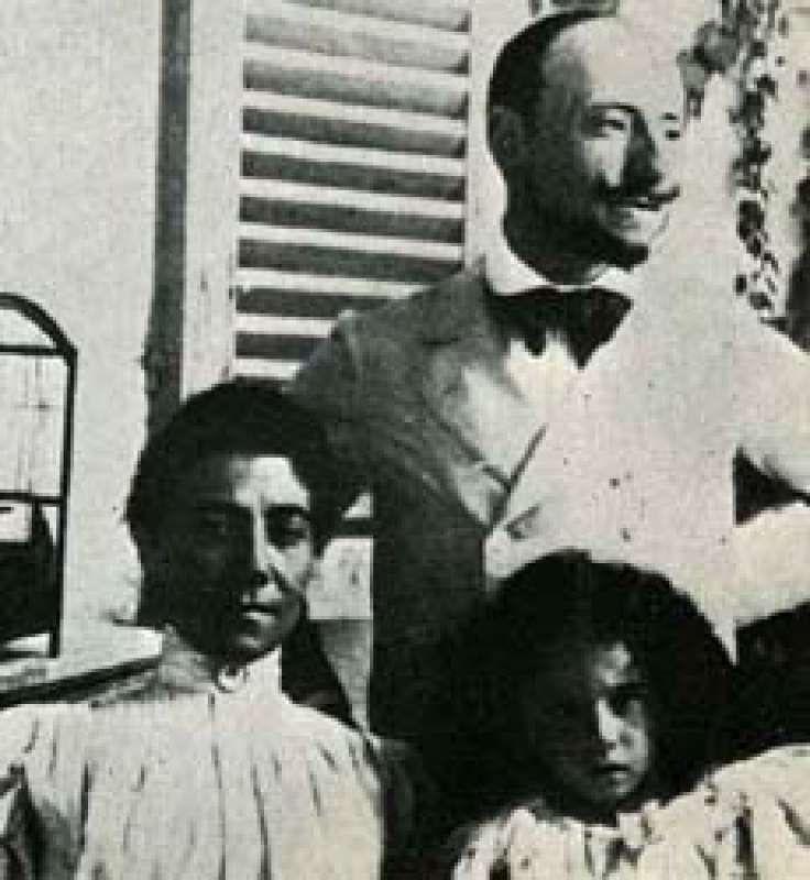 La Gravina con la figlia Renata e il Poeta