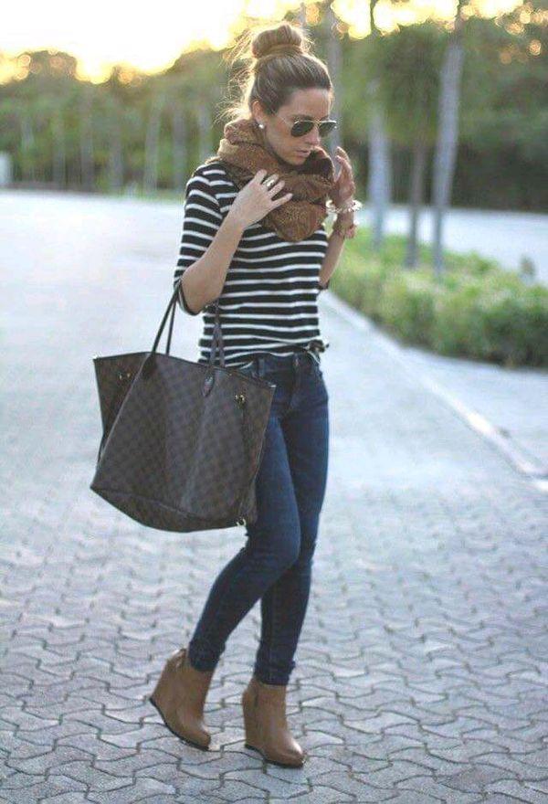 Cómo usar rayas en otoño | ActitudFEM