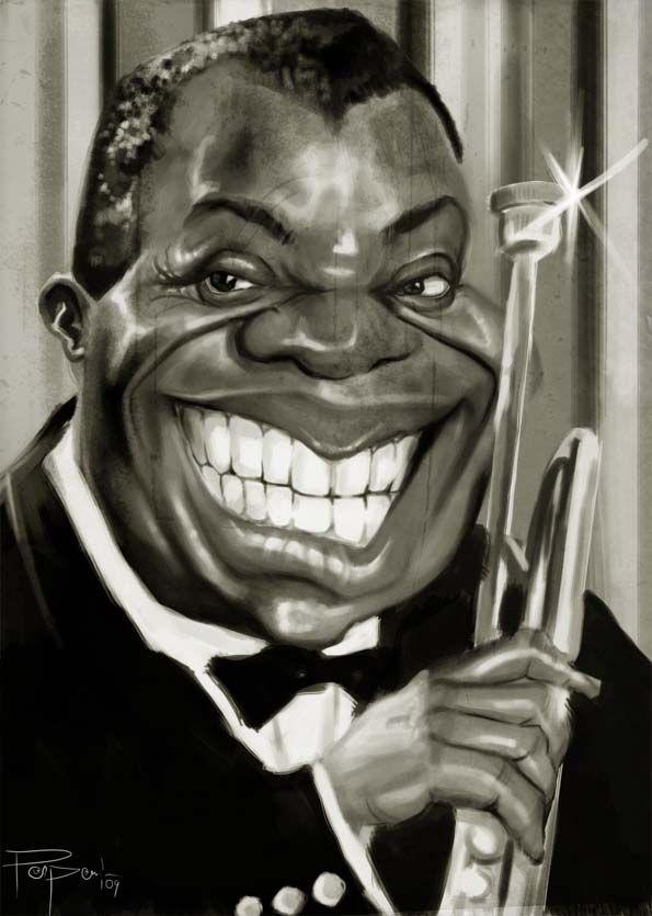 """Résultat de recherche d'images pour """"Caricature Louis Armstrong"""""""
