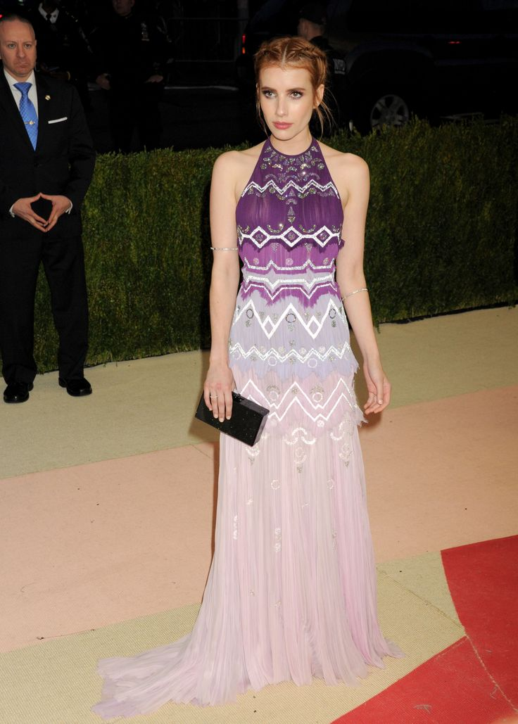 Emma Roberts arrives for the 'Manus x Machina: Fashion In An Age Of Technology' Costume Institute Gala at Metropolitan Museum of Art on May 2, 2016 in New York City.