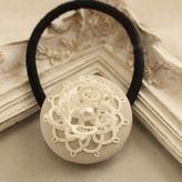一輪の花ヘアゴム(白色)
