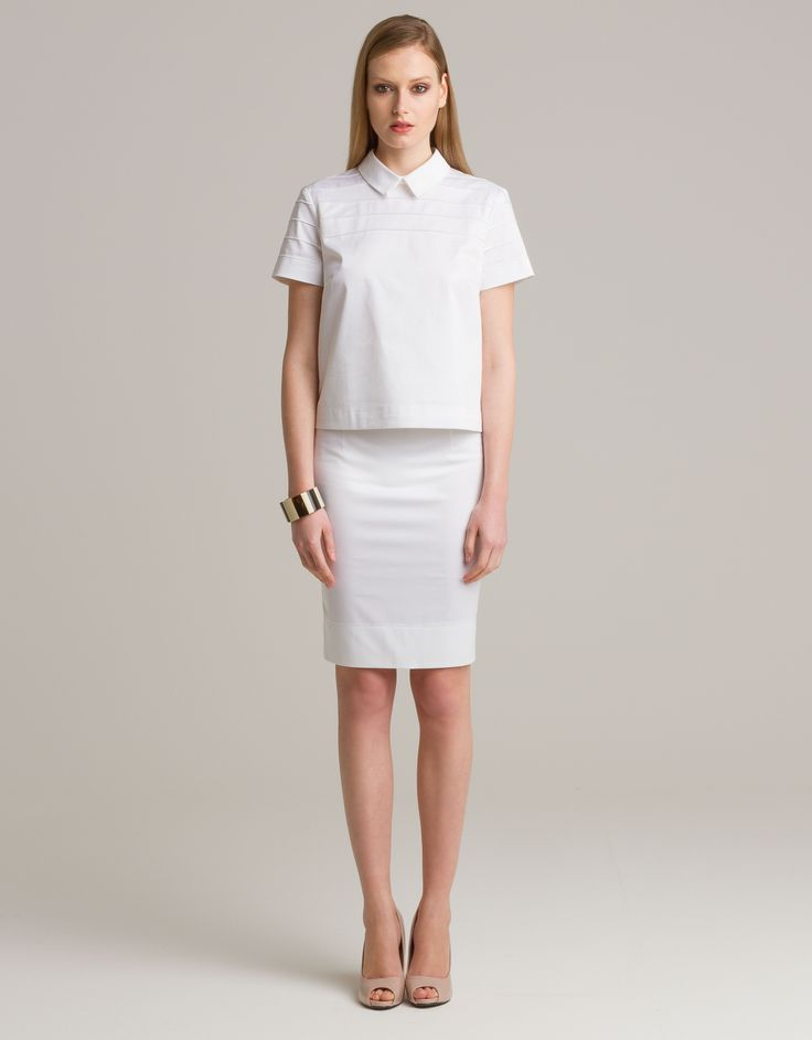 Short sleeved blouse and pencil skirt by Ludwig ABC for Maison Academia http://shop.maisonacademia.com/collections/spring-summer-2013/products/594-top