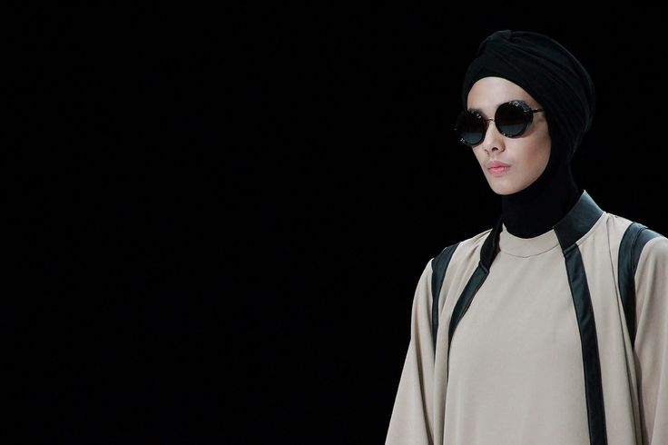 City Look and modern gamis with leather trim Hannie Hananto collection dor Indonesia Fashion Week 2014