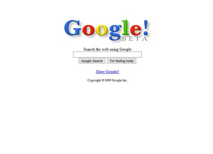 Google website in 1999