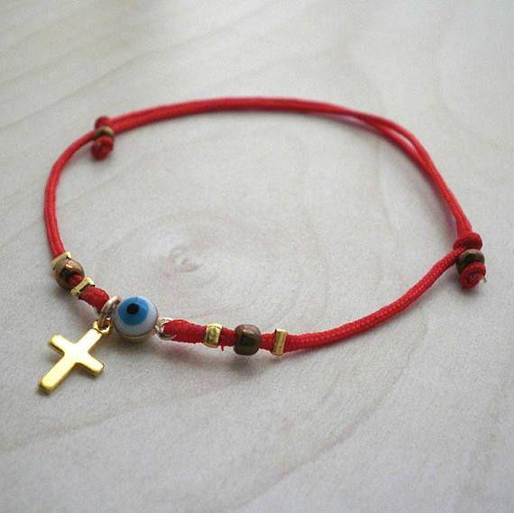 Kabbalah braceletRed string of fate braceletevil eye