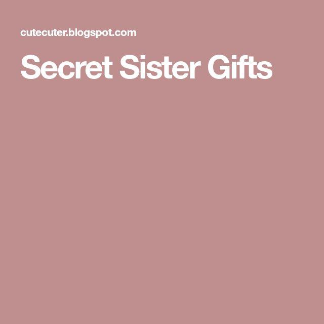 Secret Sister Gifts