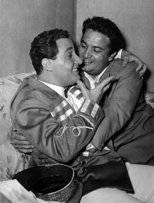 con Federico Fellini