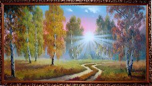 Осень в лесу - Осенний пейзаж <- Картины маслом <- Картины - Каталог | Универсальный интернет-магазин подарков и сувениров