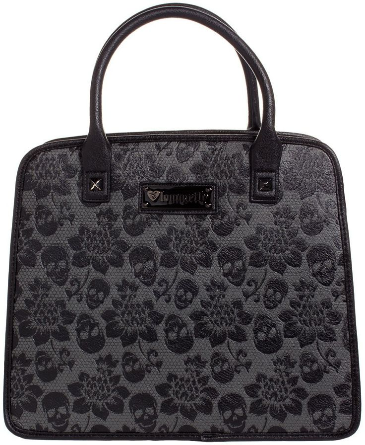 LOUNGEFLY SKULL LACE EMBOSSED SATCHEL BAG