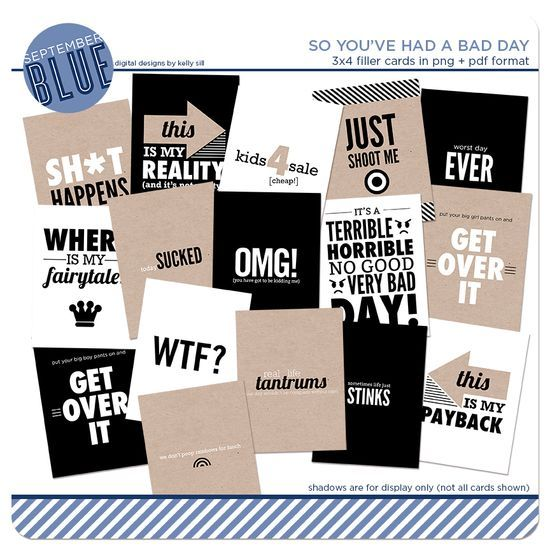 "FREEBIE ALERT: ""SO YOU HAD A BAD"" DAY FILLER CARDS cards available for free from this evening (Thursday, November 21, 2013) through 11:59pm Sunday, November 24, 2013."
