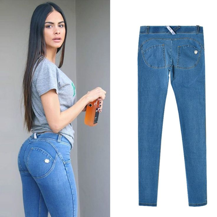 Jeans Femme Taille Basse Elastic Waist Jeggings Jeans Mujer Push Up Slim Skinny Women High Stretch Legging Pencil Pants #Affiliate