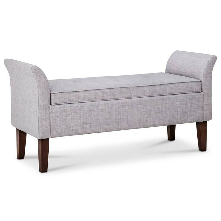 Small Foyer Settee : Storage settee bench threshold tufted