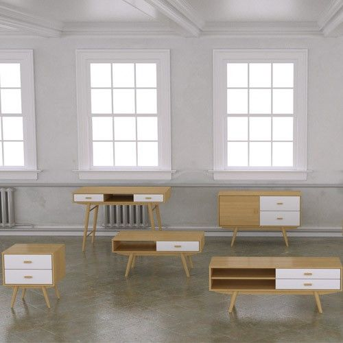 Sofia TV Stand - 3 Drawer - Scandinavian Furniture 22% OFF | $469.00 - Milan Direct