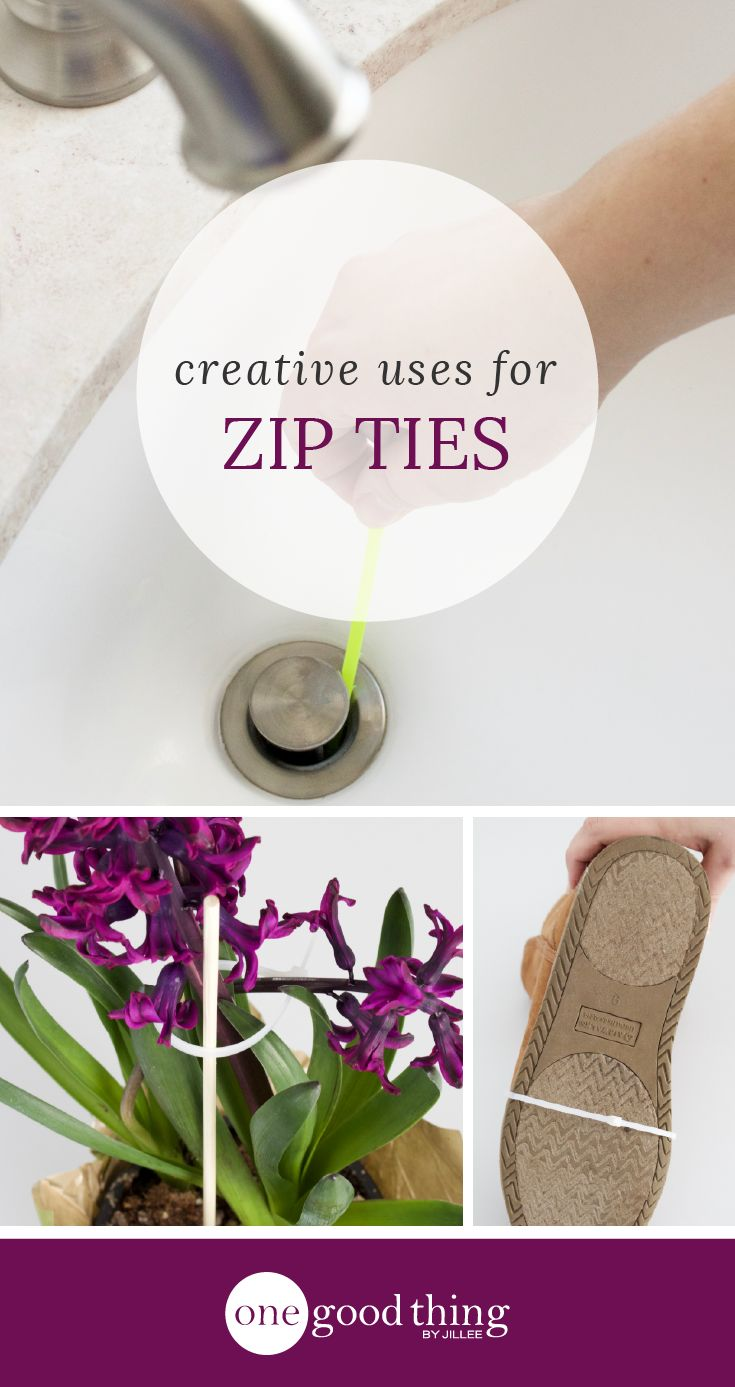 Zip ties are much more useful than you might think! Don't miss these 14 ways to use zip ties, for everything from flowers to bubbles!