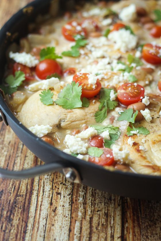 Saucy Mexican Chicken Skillet - one pan and dinner is done! Get ready ...