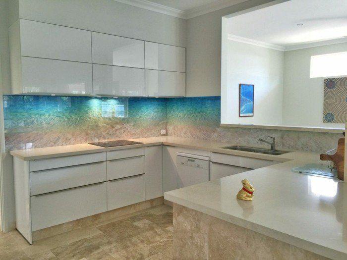 ▷ Peppen Sie jeden Wohnraum durch bedrucktes Glas auf - küchenrückwand glas bedruckt
