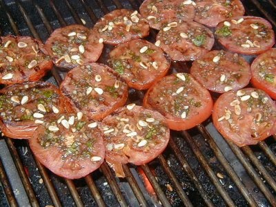 Garlic Grilled Tomatoes, BBQ University, Steven Raichlen.