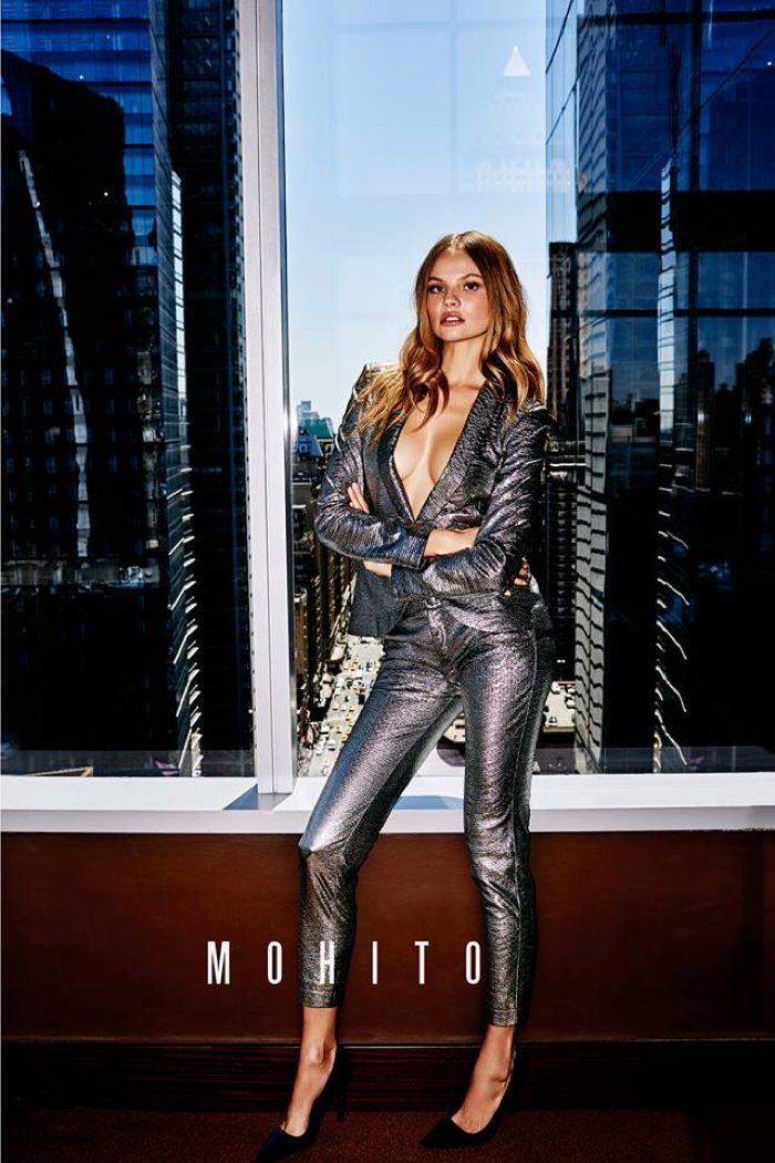 Magdalena Frackowiak wears metallic pantsuit from fall-winter 2016 campaign