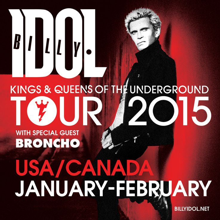 Catch BRONCHO on tour with Billy Idol this January / February across North America!