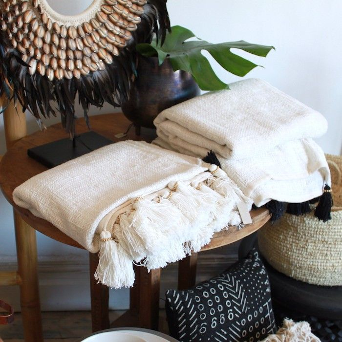 Natural Cotton Throws $130