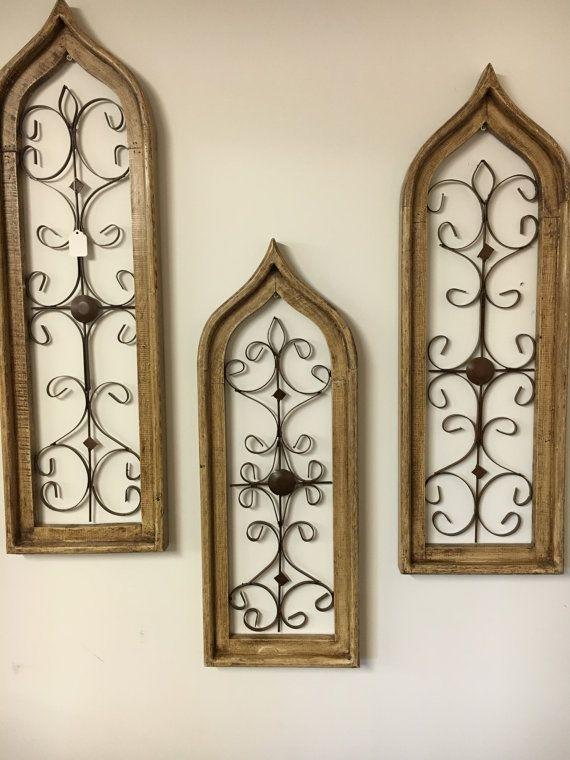 Rustic window wall decor- set of 3