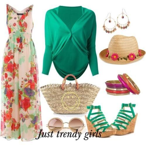 shrug with maxi dress Stylish maxi dress for the beach http://www.justtrendygirls.com/stylish-maxi-dress-for-the-beach/