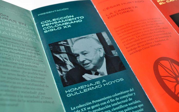 Detalle del brochure para la Editorial Javeriana Editorial Javeriana's brochure detail