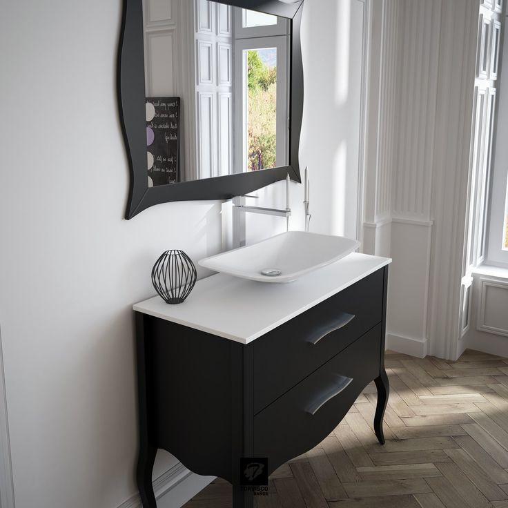 Detalle del mueble de baño ERIE con un lavabo de ...
