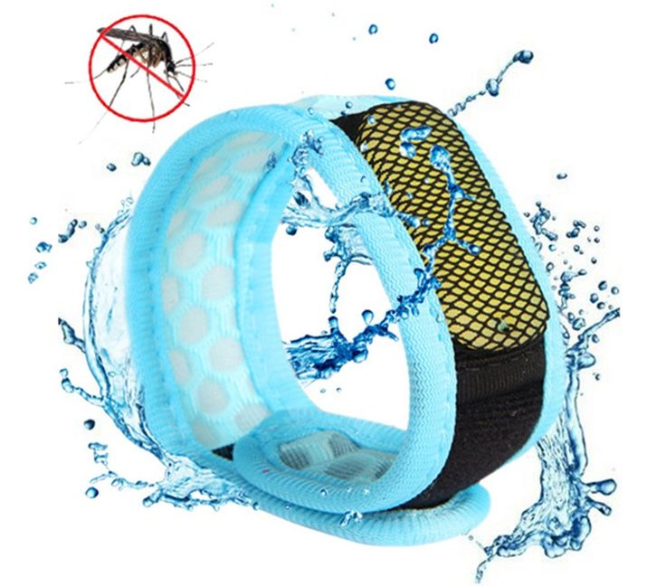 Mosquito Repellent Bracelet - Ideal Pest Control for Camping Hiking Fishing Hunting, 100% Natural Oil Safe and Lightweight for Adults