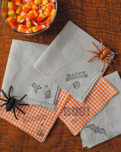 boulderlocavore.com Halloween DIY homemade cocktail napkins