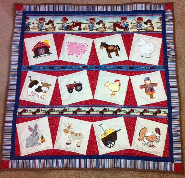 96 best Quilt Ideas - Farm Animals images on Pinterest | DIY, Book ... : farm quilt patterns - Adamdwight.com