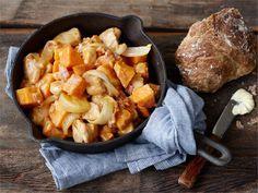 Pannuruoka valmistuu nimensä mukaisesti yhdessä isossa pannussa tai paistokasarissa. Tässä helppo ruoka niin arkeen kuin viikonloppuun.