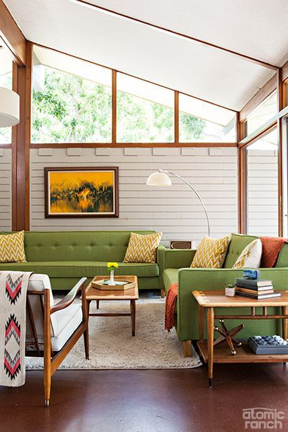 Add color and stylish furnishings without overpowering the innate patterns and architectural details in your home's open space.