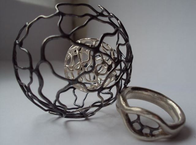 Fragile Collection oxidised silver ring