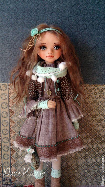 Коллекционные куклы ручной работы. Ярмарка Мастеров - ручная работа. Купить Полина. Handmade. Мятный, хлопок 100%