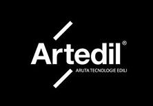 Logo per Artedil, azienda specializzata nella realizzazione di pavimenti in resina e decorazione di interni.