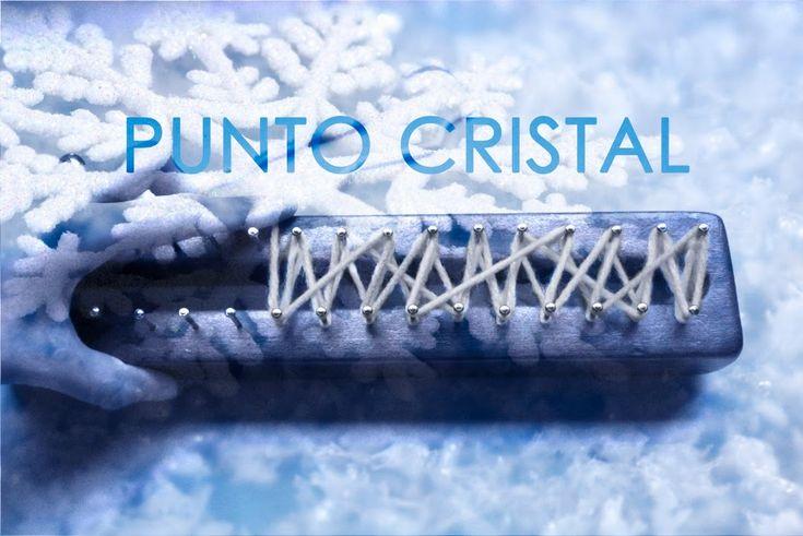 Punto Cristal en telar maya/ Crystal stitch on loom