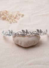 Rhinestone mariage bandeau Siver Vintage casque
