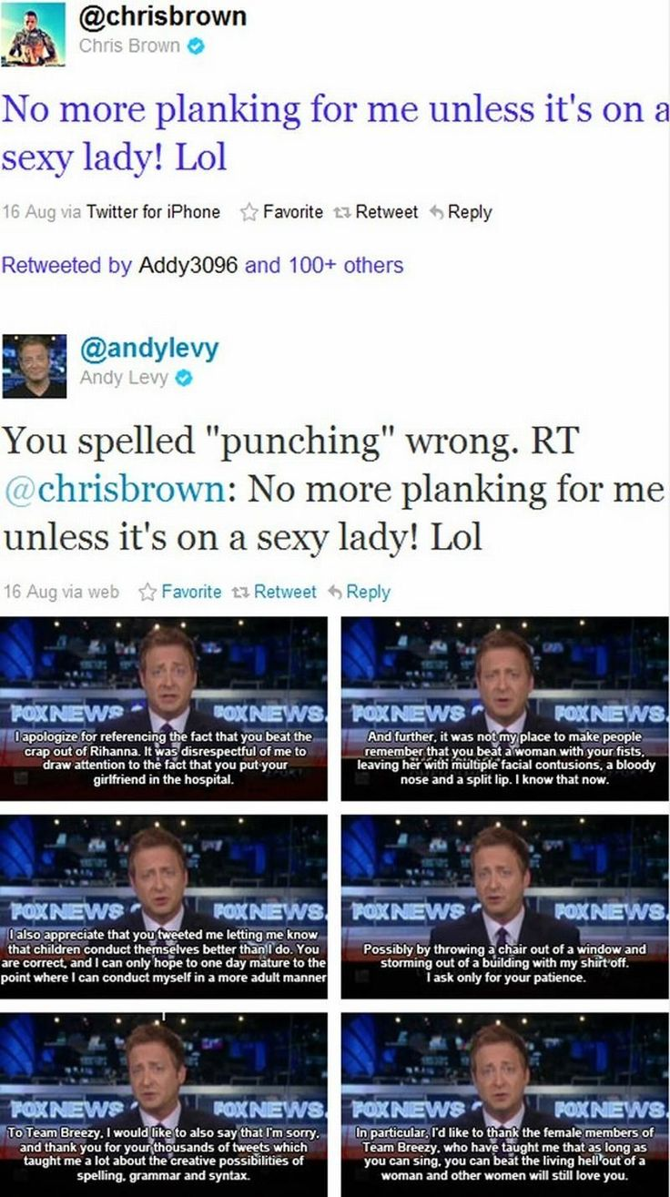 Andy Levy Versus @chrisbrown