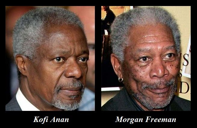 Pin By Coral Coad On Doppelgangers Unrelated Twins Morgan Freeman Celebrities Bizarre News