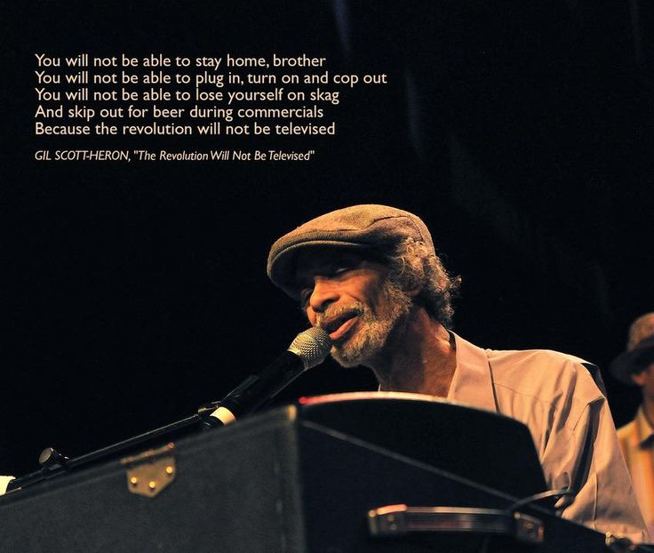 "Gil Scott-Heron, ""The Revolution Will Not Be Televised."""