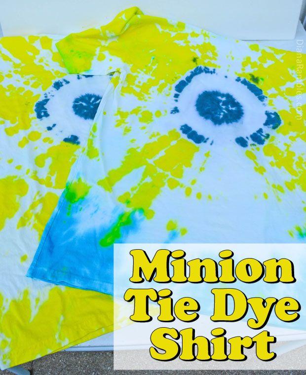 Minion Tie Dye T Shirt Tutorial #SendSmiles AD
