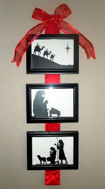 DIY~ 3 Picture Nativity Wall Hanging~ Beautiful!! I will make this and leave this up year round as a reminder of what my Lord has done for me <3