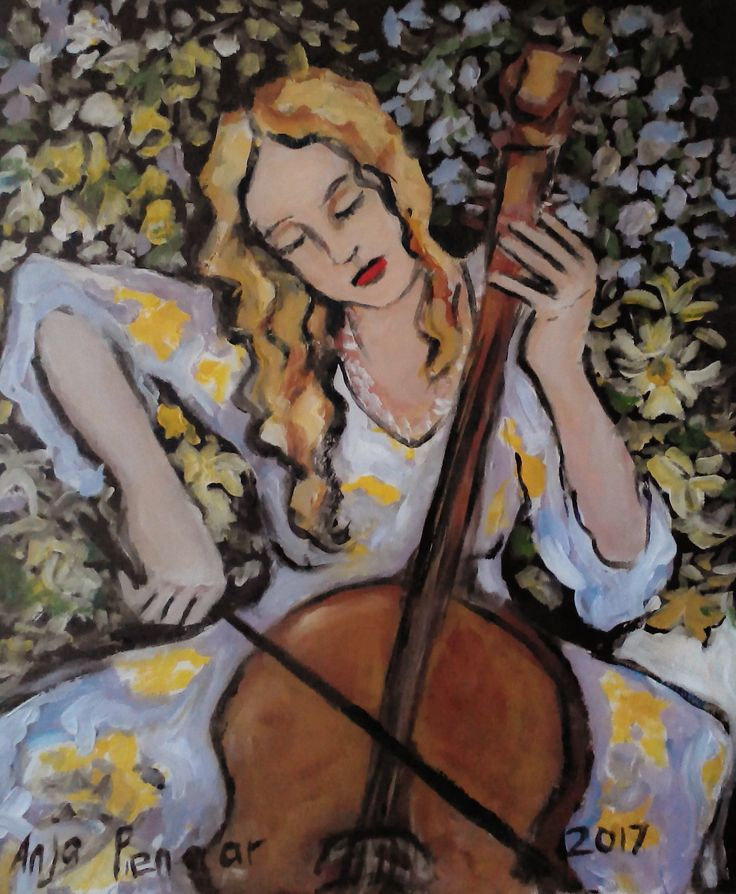 Anja Pienaar( young women playing cello)
