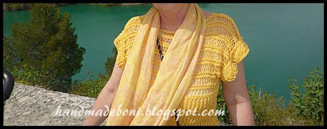 HandmadeBoni: Żółta bluzka kimonowa