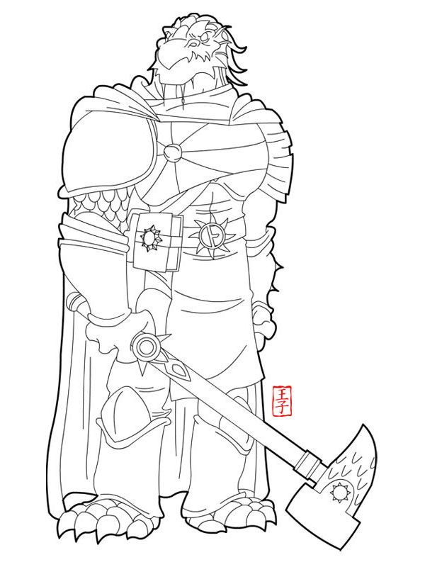 female dragonborn coloring pages - photo#6