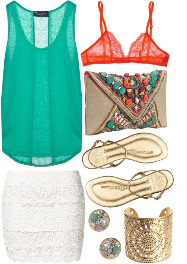 """""""Tropical night out"""" by sophiehackett on Polyvore"""